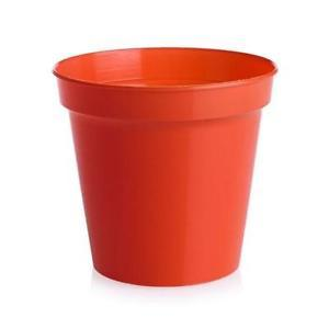 Plastic Flower Pot Red