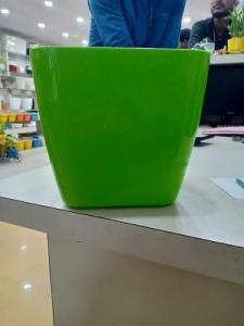 Green square pot