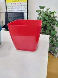 Red square pot