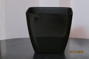 Plastic pot Black 25*25 CM