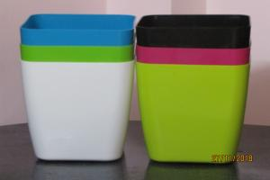 Plastic pot Square Multi color 20*20 CM (5pots)