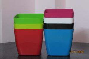 Plastic pot Square Multi color 17*17 CM (7pots)