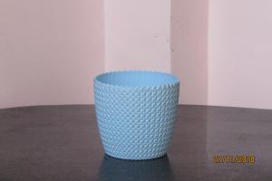 Plastic pot round Light Blue 14*12.5 cm