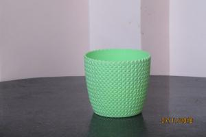 Plastic pot round Light Green 14*12.5 cm