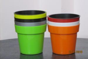 Pot in pot Multi colored Planters 16*15 CMS