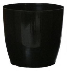 Plastic pot round Black 25*23 CM