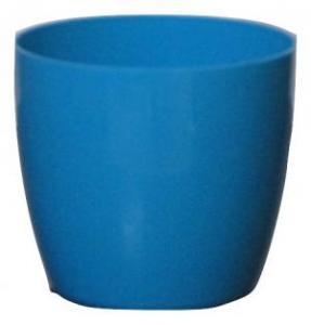 Plastic pot round Blue 14*12.5 CM