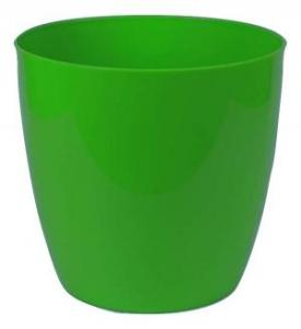 Plastic pot round Green 16*15 CM