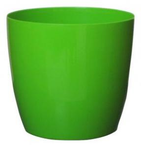 Plastic pot round Green 25*23 CM