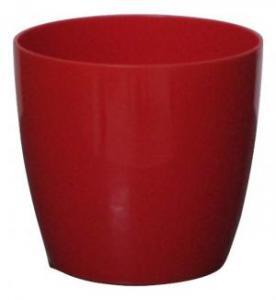 Plastic pot round Red 16*15 CM