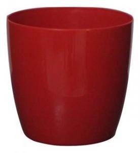 Plastic pot round Red 20*19 CM