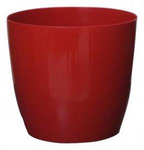 Plastic pot round Red 25*23 CM