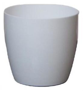 Plastic pot round White 16*15 CM