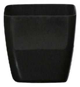 Plastic pot square Black 17*17 CM