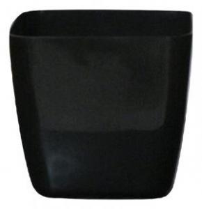 Plastic pot square Black 20*20 CM