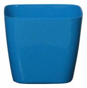 Plastic pot square Blue 14*14 CM