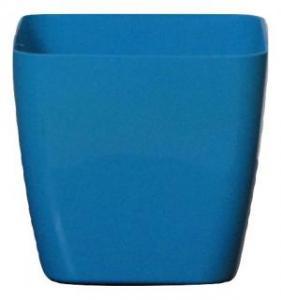 Plastic pot square Blue 17*17 CM