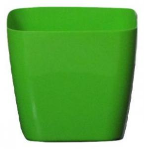 Plastic pot square Green 14*14 CM