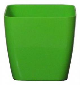 Plastic pot square Green 17*17 CM