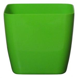 Plastic pot square Green 20*20 CM