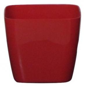 Plastic pot square Red 14*14 CM
