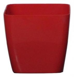Plastic pot square Red 17*17 CM