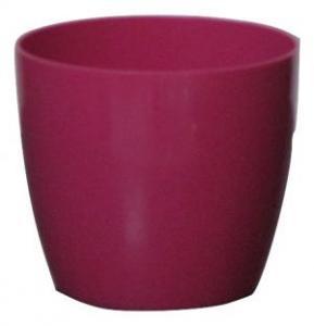 Plastic pot round Pink 14*12.5 CM