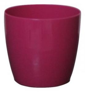 Plastic pot round Pink 16*15 CM