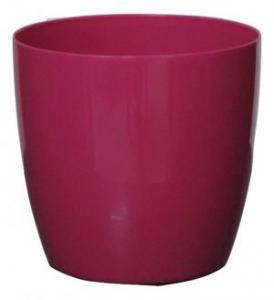 Plastic pot round PINK 20*19 CM