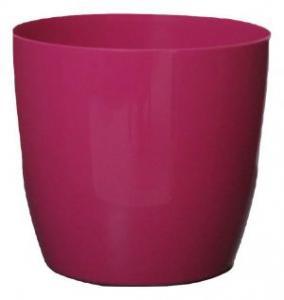 Plastic pot round Pink 25*23 CM