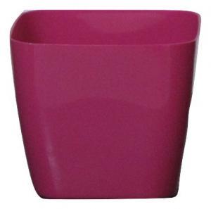 Plastic pot square Pink 14*14 CM