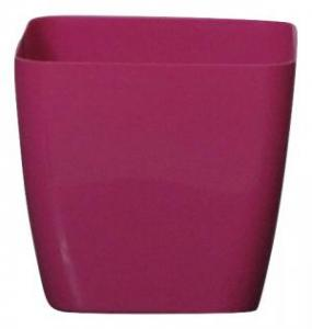 Plastic pot square Pink 17*17 CM