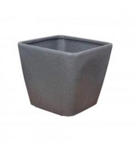 Decora square pot  Grey GC 35