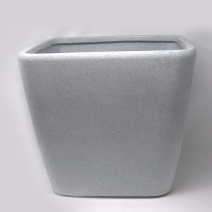Decora square pot  White GC 35
