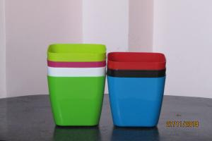Plastic pot Square Multi color 20*20 CM (5pots)