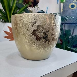 Gold Color Ceramic Pot