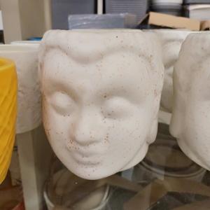 Buddha White Ceramic Pot