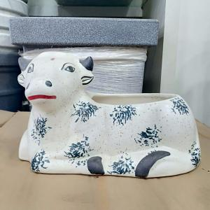 Cow Shaped Ceramic Pot