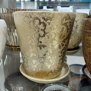 Gold Ceramic Pot (Long)