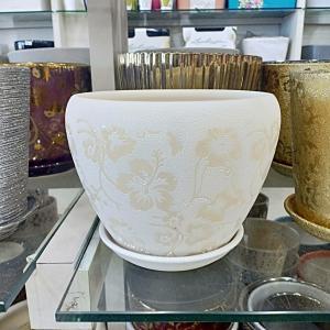 White Bowl shape Ceramic Pot