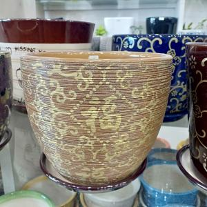 Light Brown Ceramic Pot