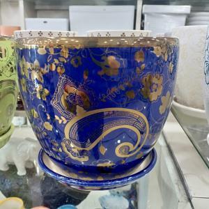 Blue Designer Ceramic Pot