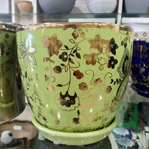 Green Designer Ceramic Pot